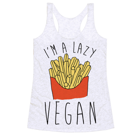 Lazy Vegan Racerback Tank Top
