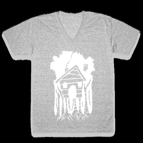 Yaga's House On Hen's Legs V-Neck Tee Shirt