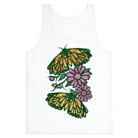 Butterflies In Bloom Tank Top