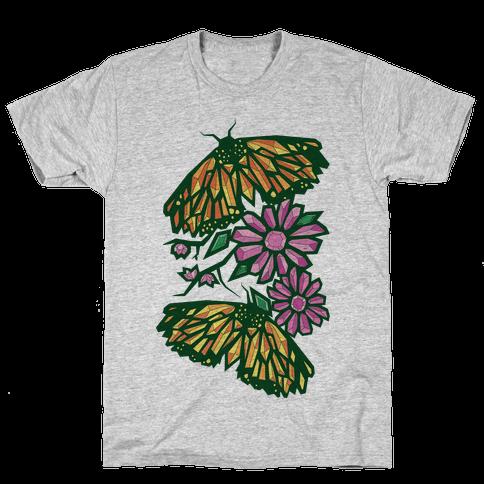 Butterflies In Bloom Mens T-Shirt