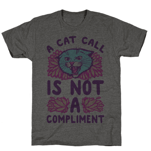 A Cat Call is Not a Compliment Mens T-Shirt