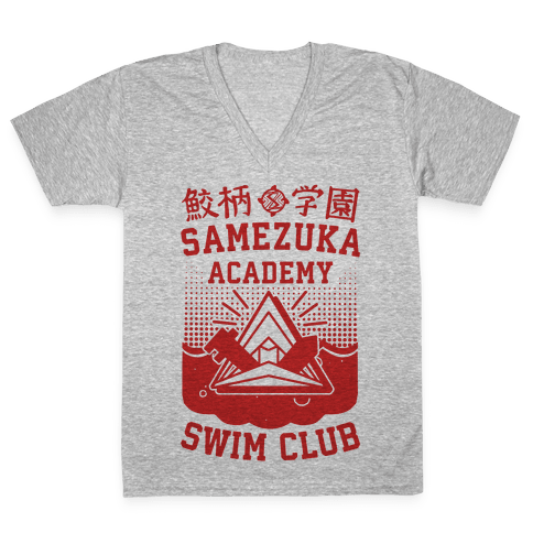 Samezuka Academy Swim Club V-Neck Tee Shirt