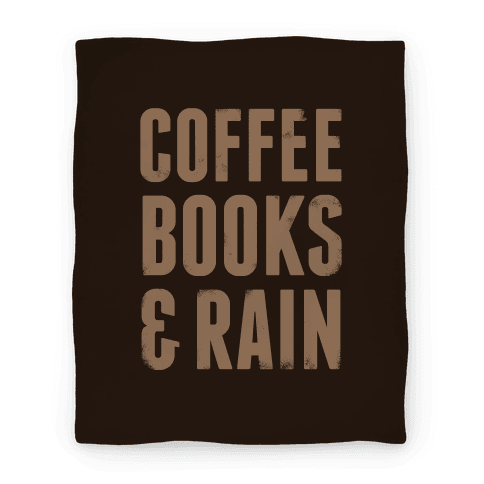 Coffee Books & Rain Blanket (Expresso) Blanket