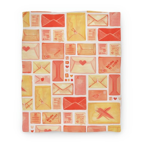 Love Letter Pattern Blanket