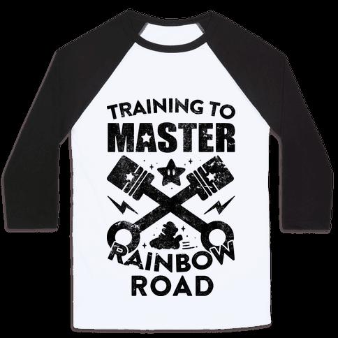 Training To Master Rainbow Road (vintage) Baseball Tee