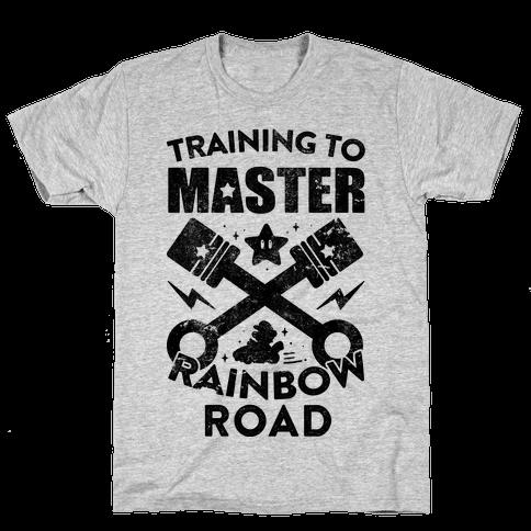 Training To Master Rainbow Road (vintage) Mens T-Shirt