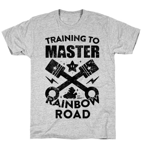 Training To Master Rainbow Road (vintage) Mens T-Shirt