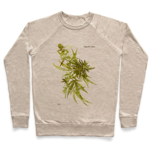 Cannabis Botanical Illustration Pullover