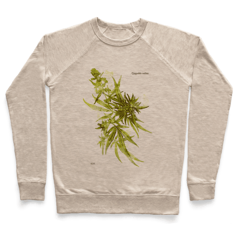 Cannabis Botanical Illustration Pullover