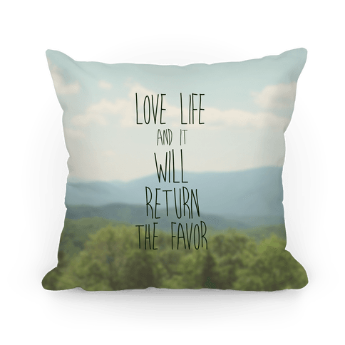 Love Life Throw Pillow : Love Life - Throw Pillow - HUMAN