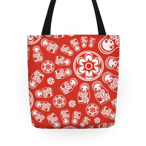 Russian Stacking Doll Pattern Tote