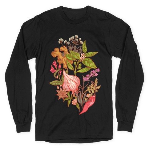 Chef's Botanical Herbs and Spices Long Sleeve T-Shirt