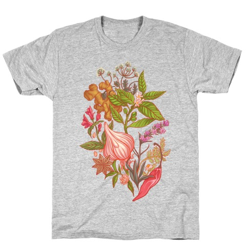 Chef's Botanical Herbs and Spices T-Shirt