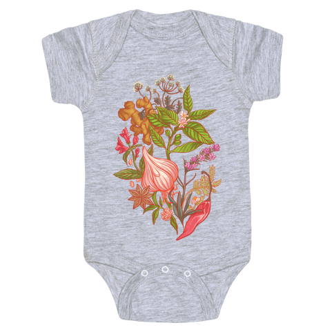 Chef's Botanical Herbs and Spices Baby One-Piece