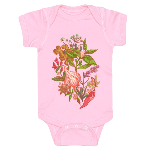 Chef's Botanical Herbs and Spices Baby Onesy