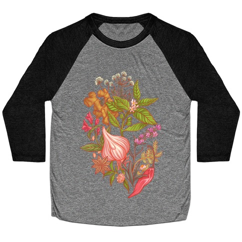 Chef's Botanical Herbs and Spices Baseball Tee