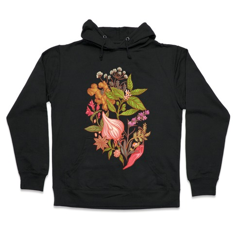 Chef's Botanical Herbs and Spices Hooded Sweatshirt