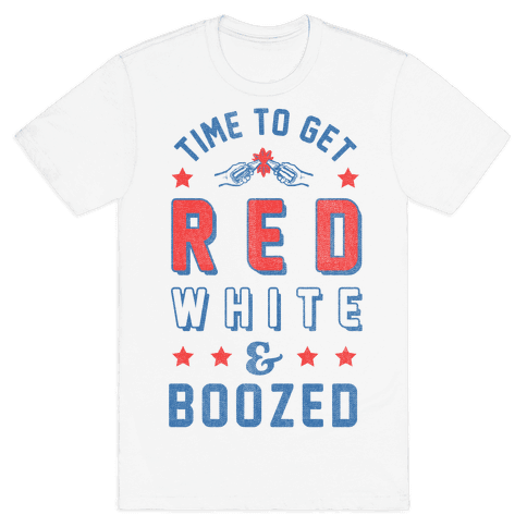 Red White & Boozed (Tank) Mens T-Shirt