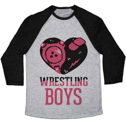 Wrestling Boys Baseball Tee