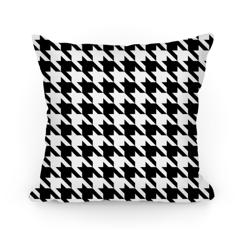 Houndstooth Pillow (black and white) Pillow