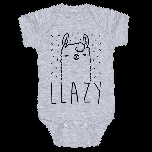 Llazy Llama Baby Onesy