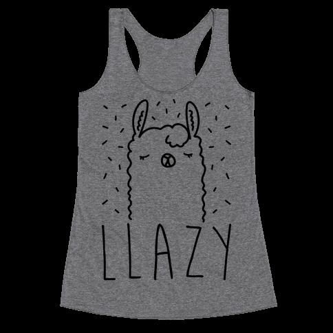 Llazy Llama Racerback Tank Top