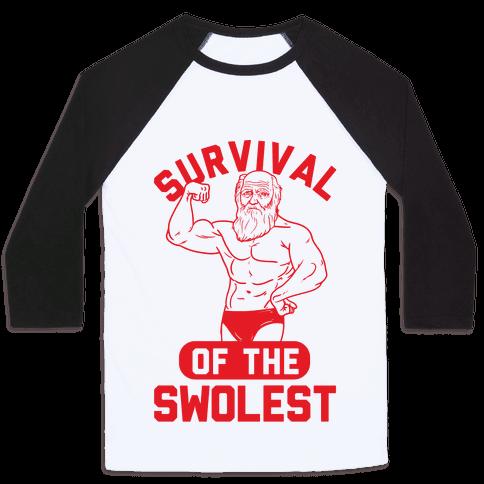 Survival Of The Swolest Baseball Tee