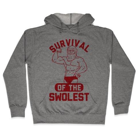 Survival Of The Swolest Hooded Sweatshirt