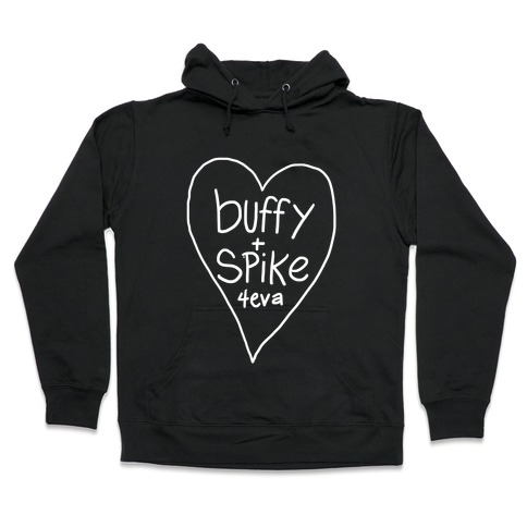 Buffy + Spike 4eva Hooded Sweatshirt