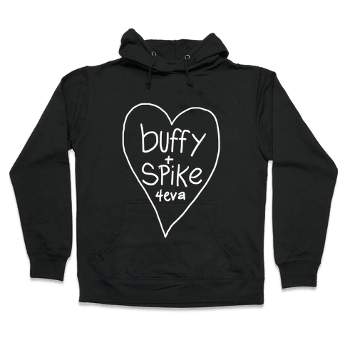 Buffy + Spike 4eva Hooded Sweatshirt
