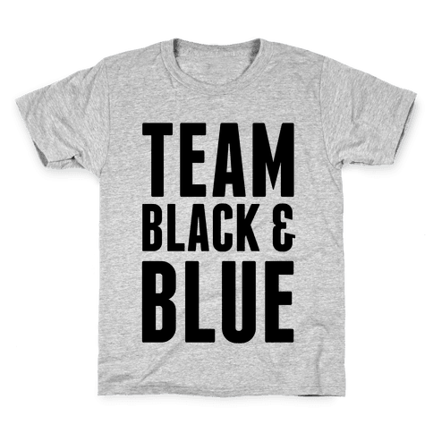 Team Black and Blue Kids T-Shirt