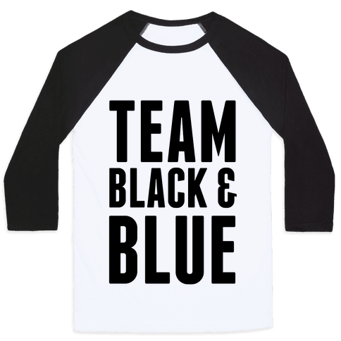 Team Black and Blue Baseball Tee
