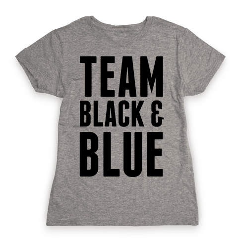 Team Black and Blue Womens T-Shirt