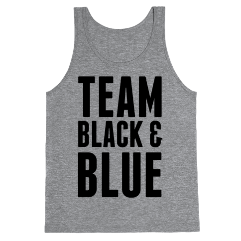 Team Black and Blue Tank Top