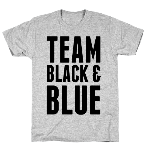 Team Black and Blue Mens T-Shirt