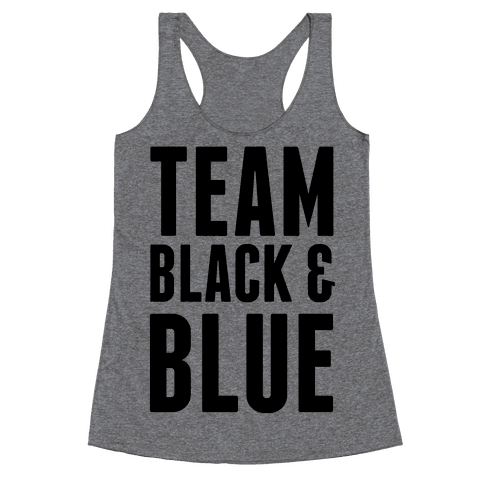 Team Black and Blue Racerback Tank Top