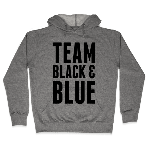 Team Black and Blue Hooded Sweatshirt