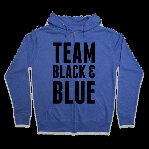 Team Black and Blue Zip Hoodie