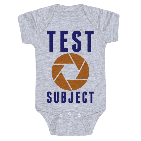Test Subject Baby Onesy