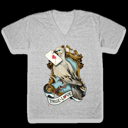 Pigeon Boyfriend V-Neck Tee Shirt