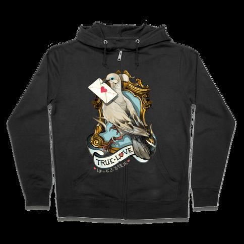 Pigeon Boyfriend Zip Hoodie
