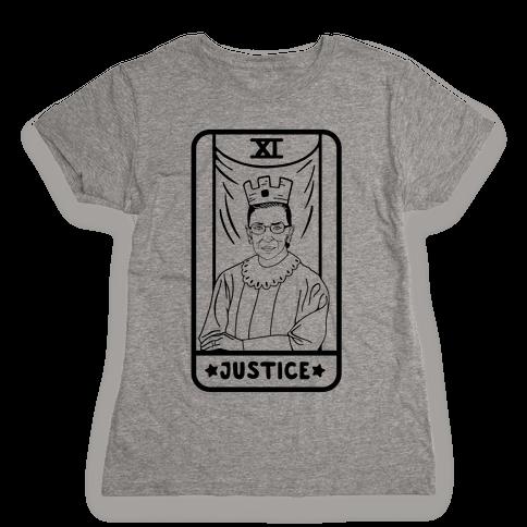 Ruth Bader Ginsburg Justice Tarot Womens T-Shirt