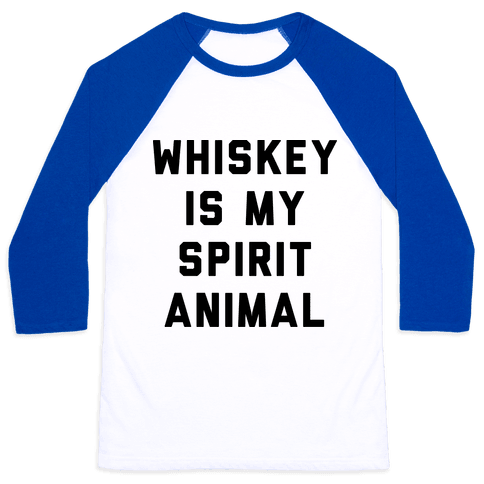 Whiskey Is My Spirit Animal Baseball Tee