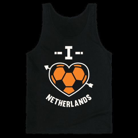 I Love Netherlands (Soccer) Tank Top