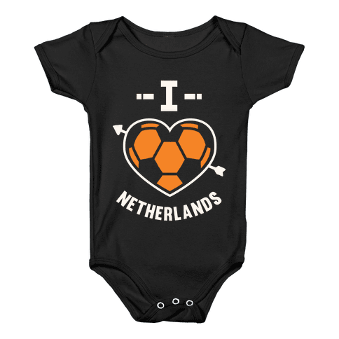 I Love Netherlands (Soccer) Baby Onesy