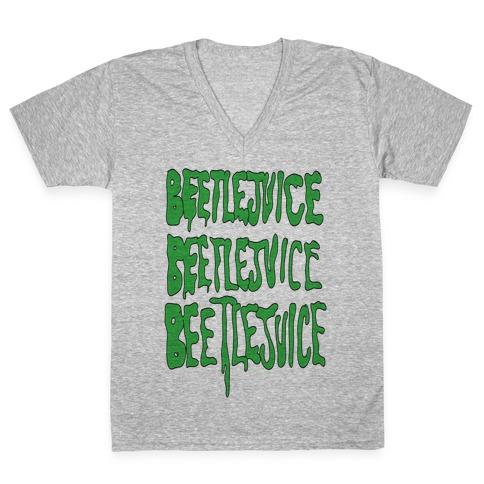 Beetlejuice V-Neck Tee Shirt