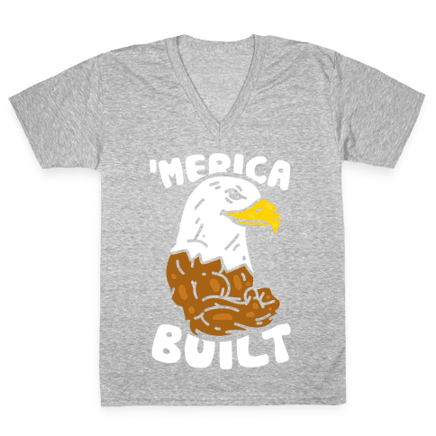 'Merica Built V-Neck Tee Shirt