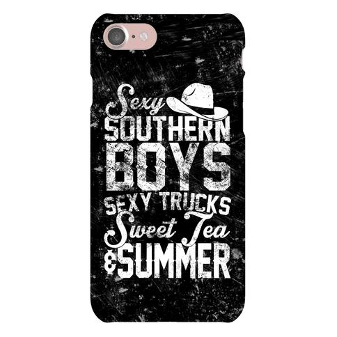Sexy Southern Boys, Sexy Trucks, Sweet Tea & Summer Phone Case
