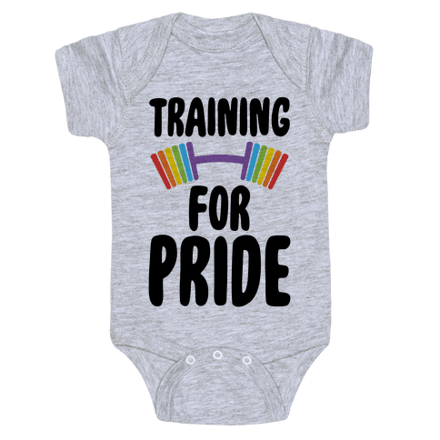 Training For Pride Baby Onesy