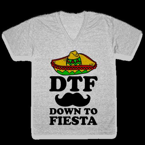 DTF V-Neck Tee Shirt